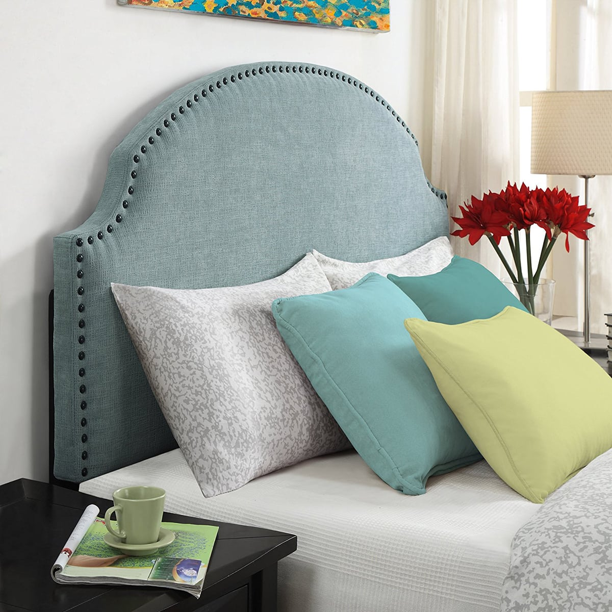 if you arenu0027t a fan of diying then you can get a similar look with the headboard below click here