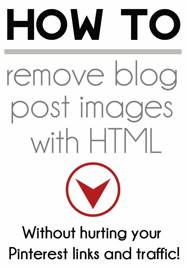 How to remove blog images without hurting your Pinterest traffic and links