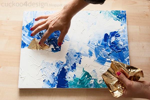 textured tin foil art diy abstract artwork tutorial cuckoo4design