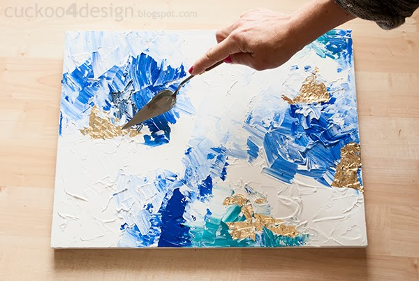 Diy abstract artwork tutorial cuckoo4design for How to make canvas painting