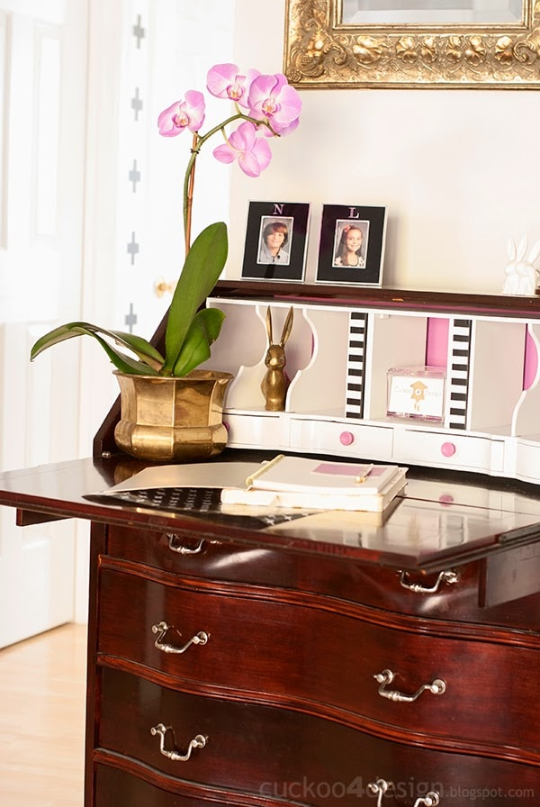 Radiant Orchid Desk Makeover