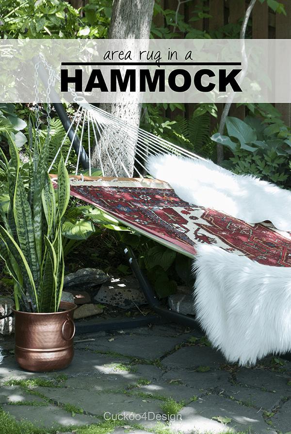 outdoor patio design by Cuckoo4Design - rug in a hammock