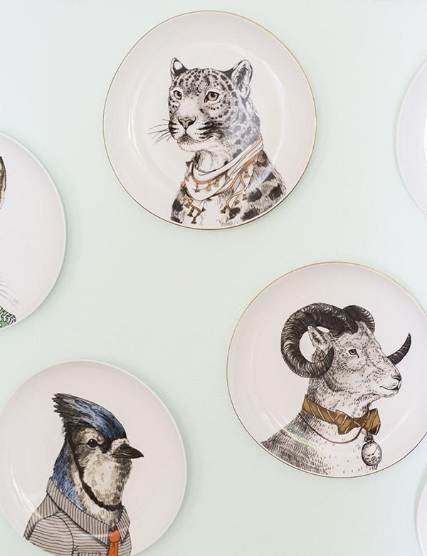 West Elm animal plates