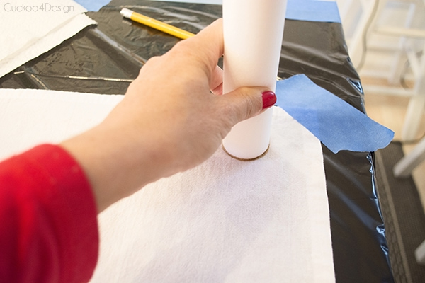 painting a towel