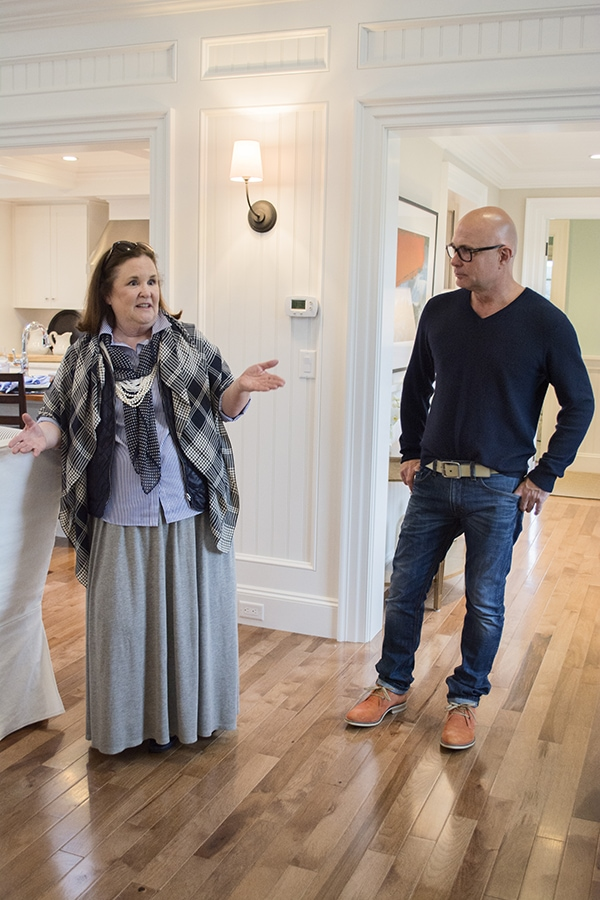 Jack Thomsson and Designer Linda Woodrum in the 2015 HGTV dream home - Cuckoo4Design