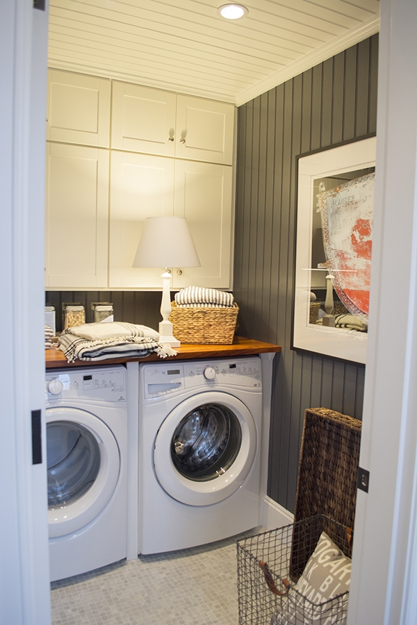 Laundry room in the 2015 HGTV dream home on Martha's Vineyard - Cuckoo4Design