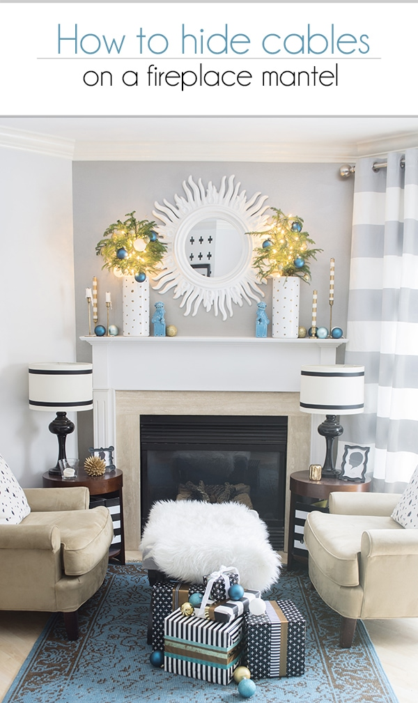 How To Hide Cables On A Fireplace Mantel Cuckoo4design