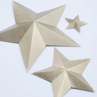 Foldable 3D stars silhouette cameo downloadable file