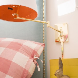 Bedside Brass Swing Arm Lamp