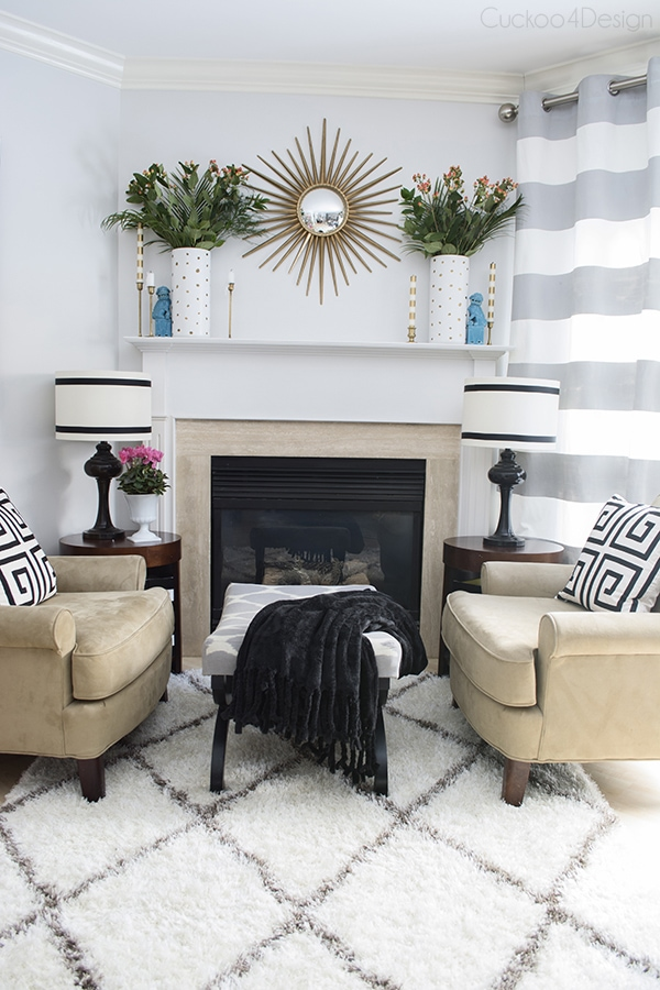 Different ways to decorate a fireplace - Cuckoo4Design