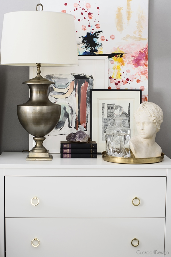 nightstand vignette