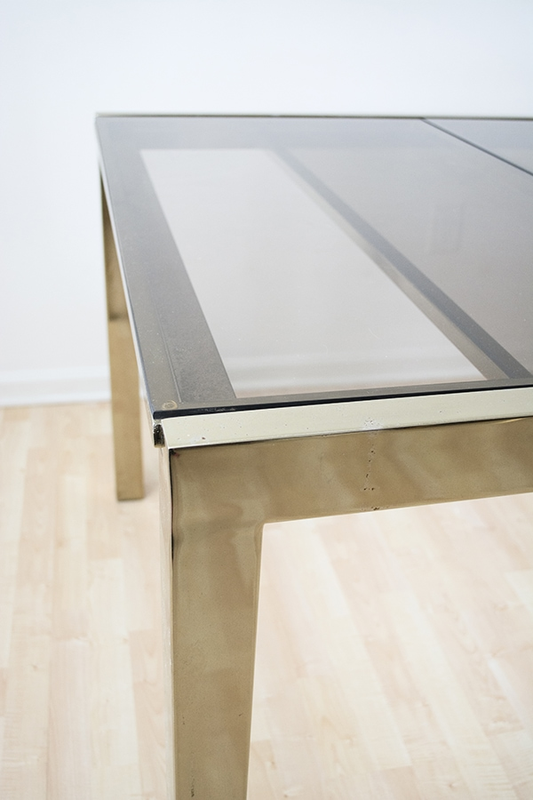 Trend modern brass dining table brass table