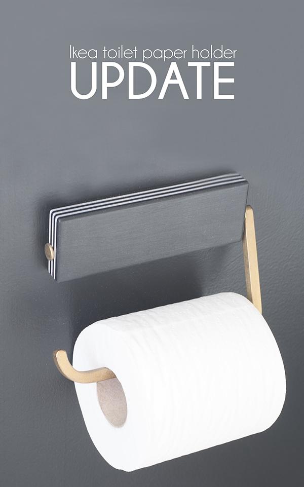 Ikea toilet paper holder makeover cuckoo4design for Diy toilet paper storage