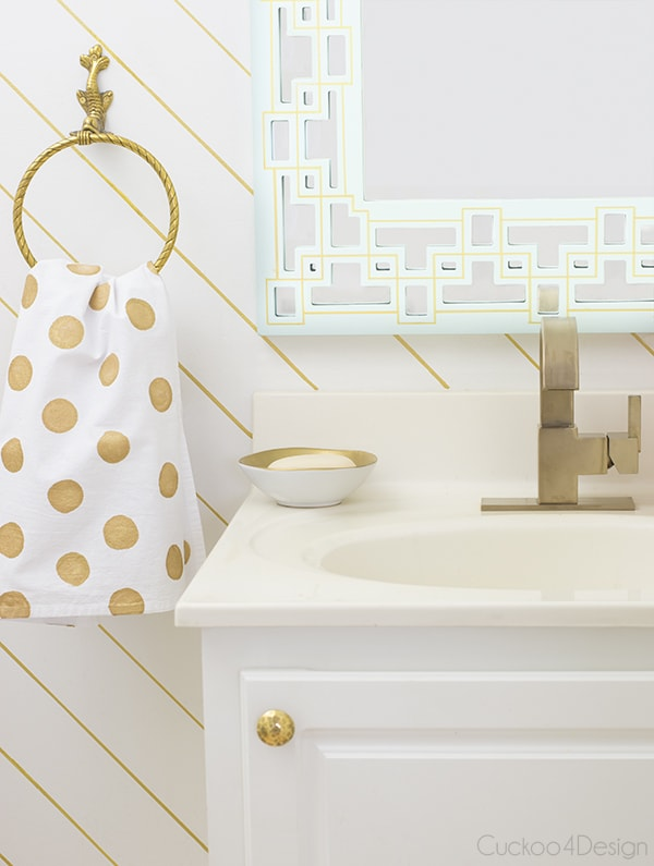 A Shiny New Faucet And A Major Giveaway CuckooDesign - Champagne bronze bathroom faucet for bathroom decor ideas