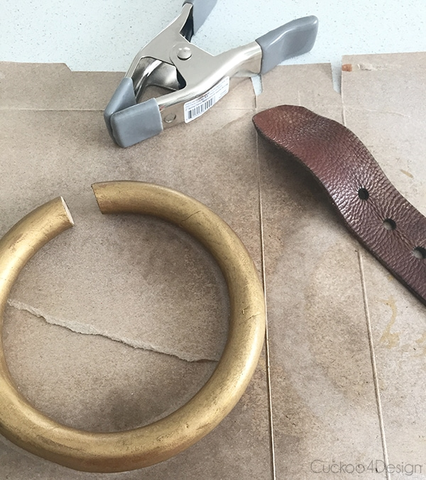 DIY towel ring holder