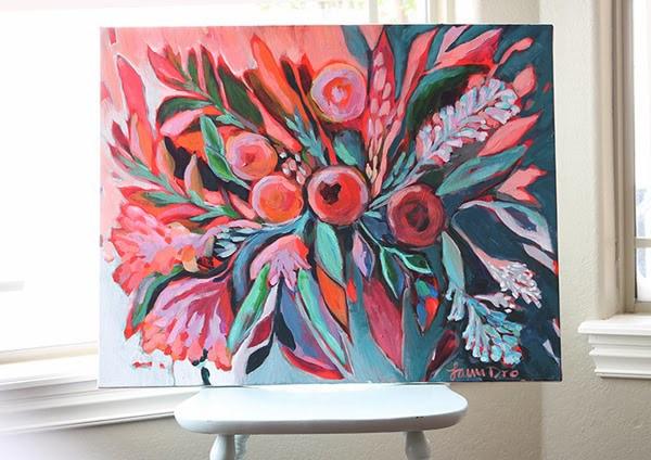 Rose bud painting Laura Dro