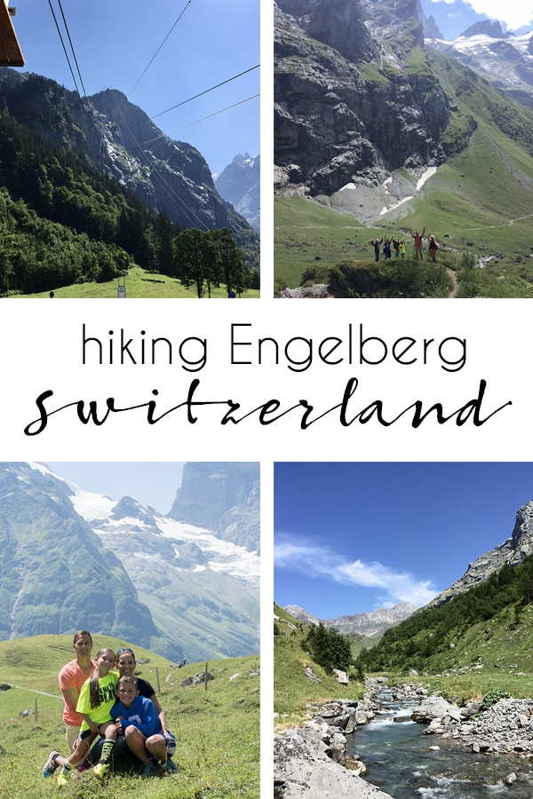 hiking family vacation in Switzerland Engelberg