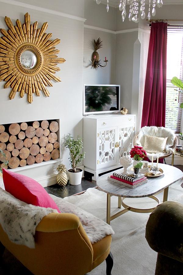 elegant glam living room - Swoon Worthy