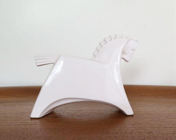Japanese white horse statue