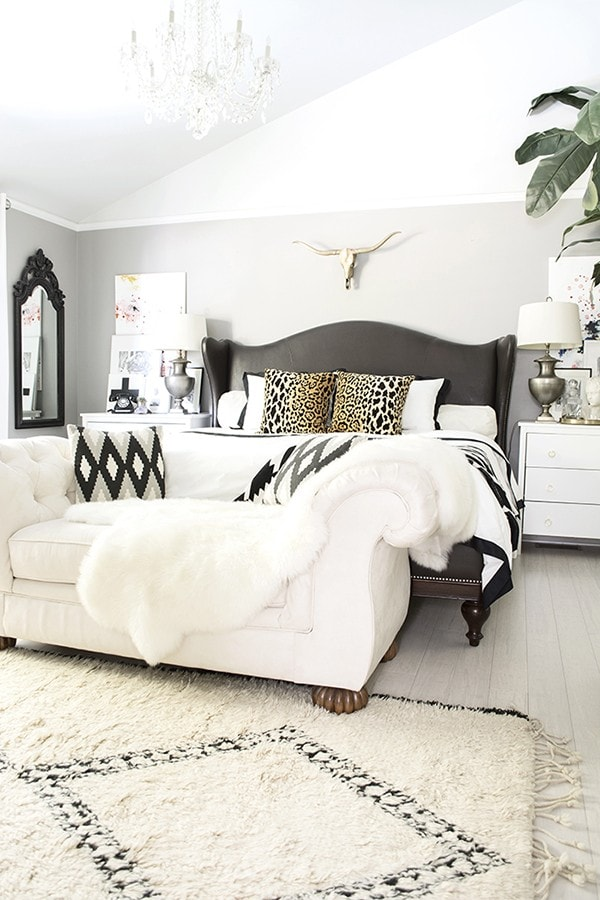 neutral boho glam bedroom - Cuckoo4Design