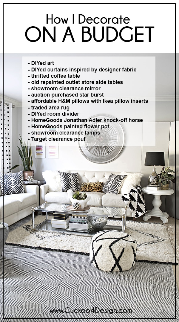 How to decorate on a very tight budget - Budget home decor shopping tips that anyone can try - Cuckoo4Design