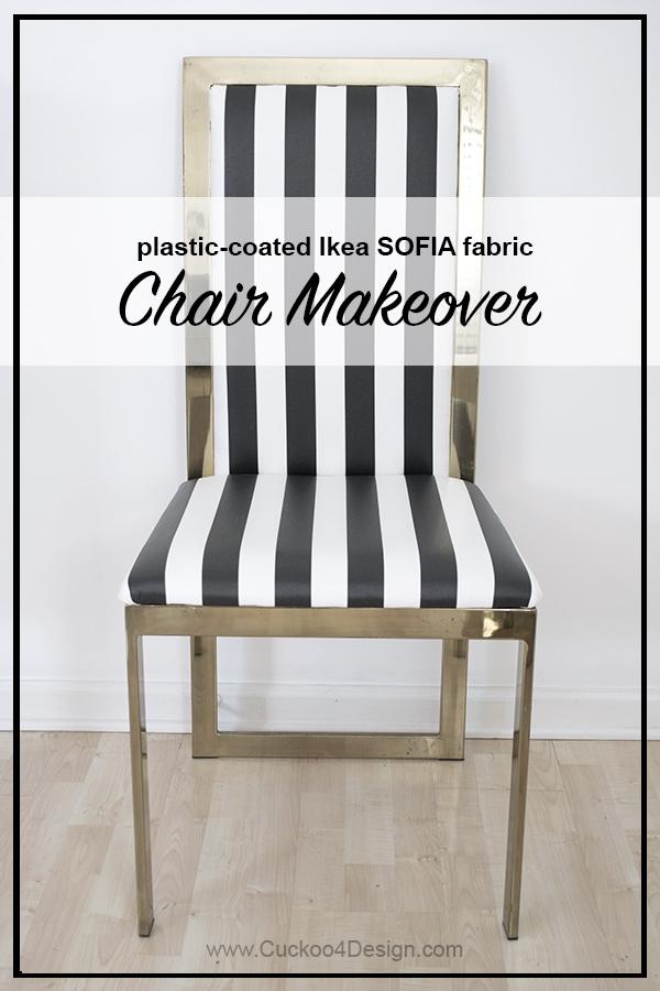 plastic coated Ikea Sofia fabric brass chair covers