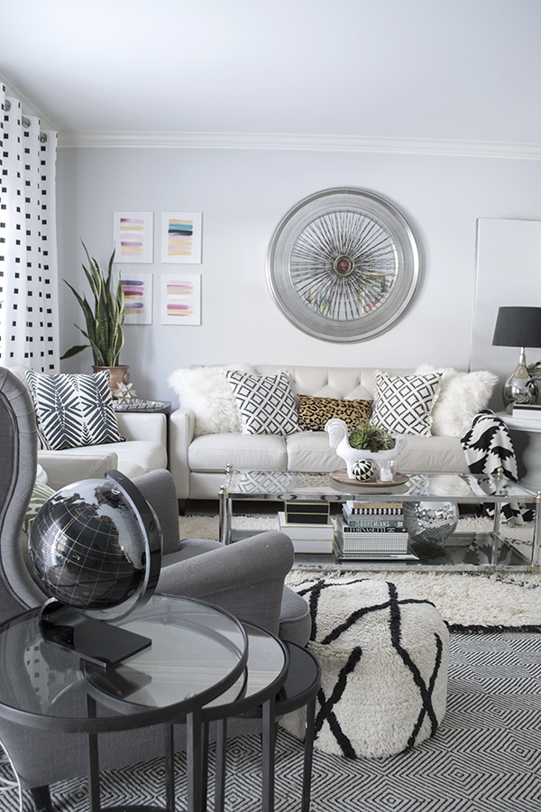 Stylish neutral budget living room - by Cuckoo4Design