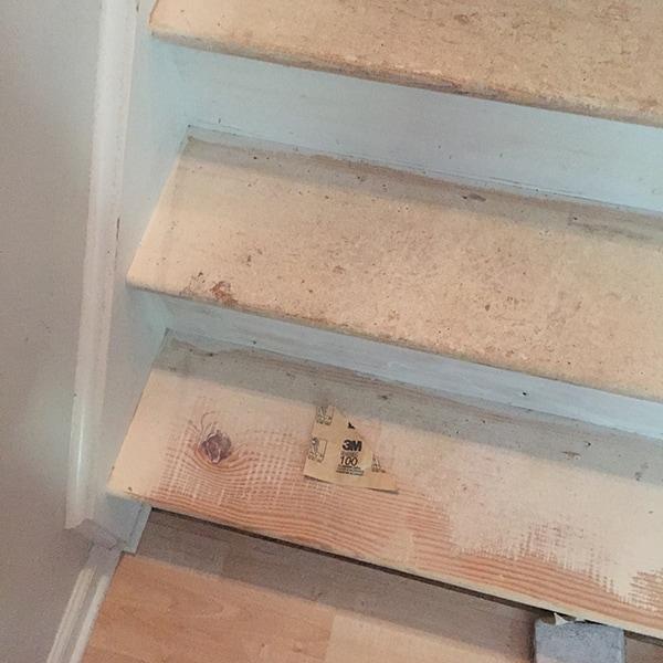 Sanding stairs