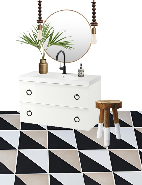 bathroom plans with ikea godmorgon vanity - cuckoo4design