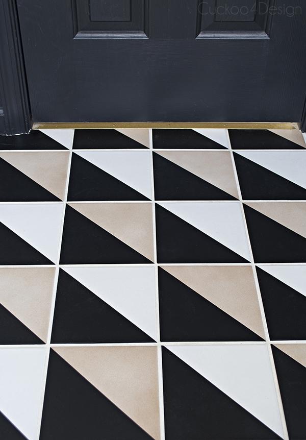 How to update plain checkerboard floor - Cuckoo4Design