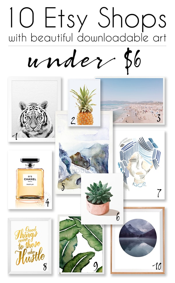10 Etsy shops with great downloadable art for under $6 - Cuckoo4Design