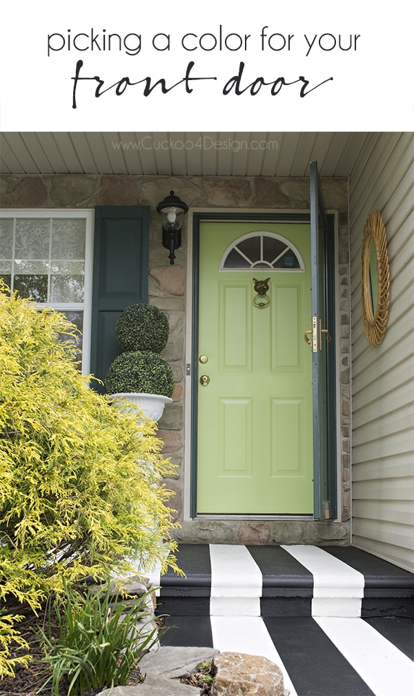 Picking the right color and painting exterior doors | Cuckoo4Design