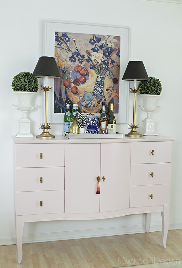 Quartz_pink_dresser_makeover_with_modern_gold_hardware_1