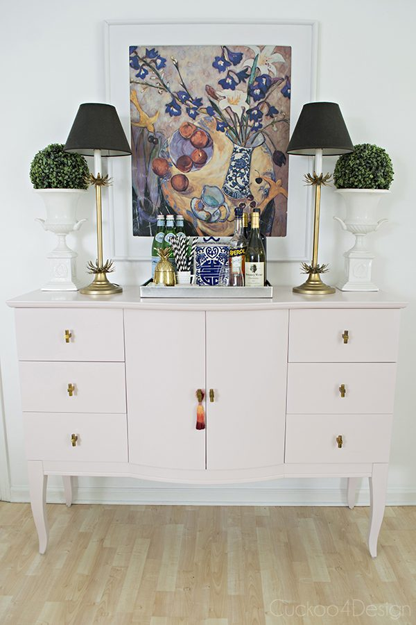 Quartz Pink Dresser Makeover