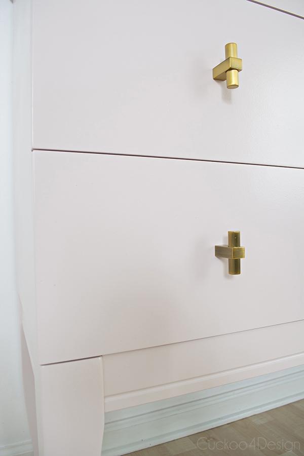 Quartz_pink_dresser_makeover_with_modern_gold_hardware_11
