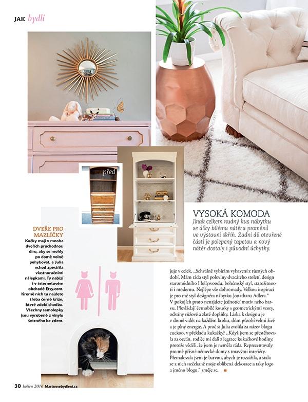 Marianne bydleni magazine feature - Cuckoo4Design