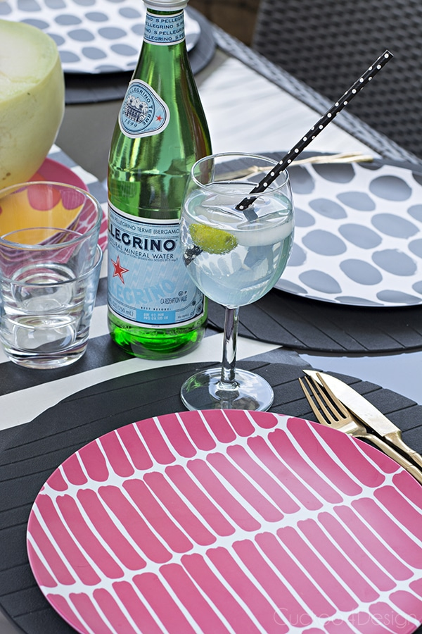 fresh summer table setting with Marimekko plates