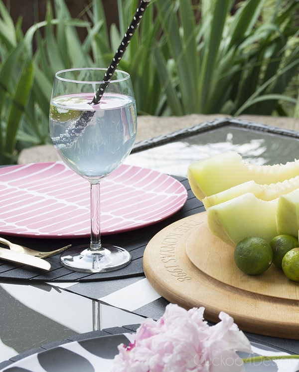 fresh summer table setting with Marimekko plates