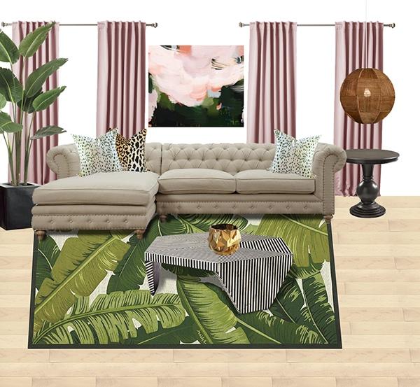 Palm Leaf Rug Moodboard