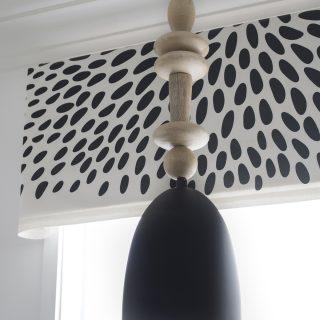 DIY wood bead pendant light