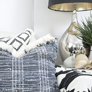 DIY fringe jeans rug pillows