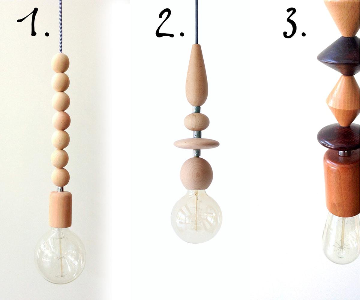 DIY wood pendant light