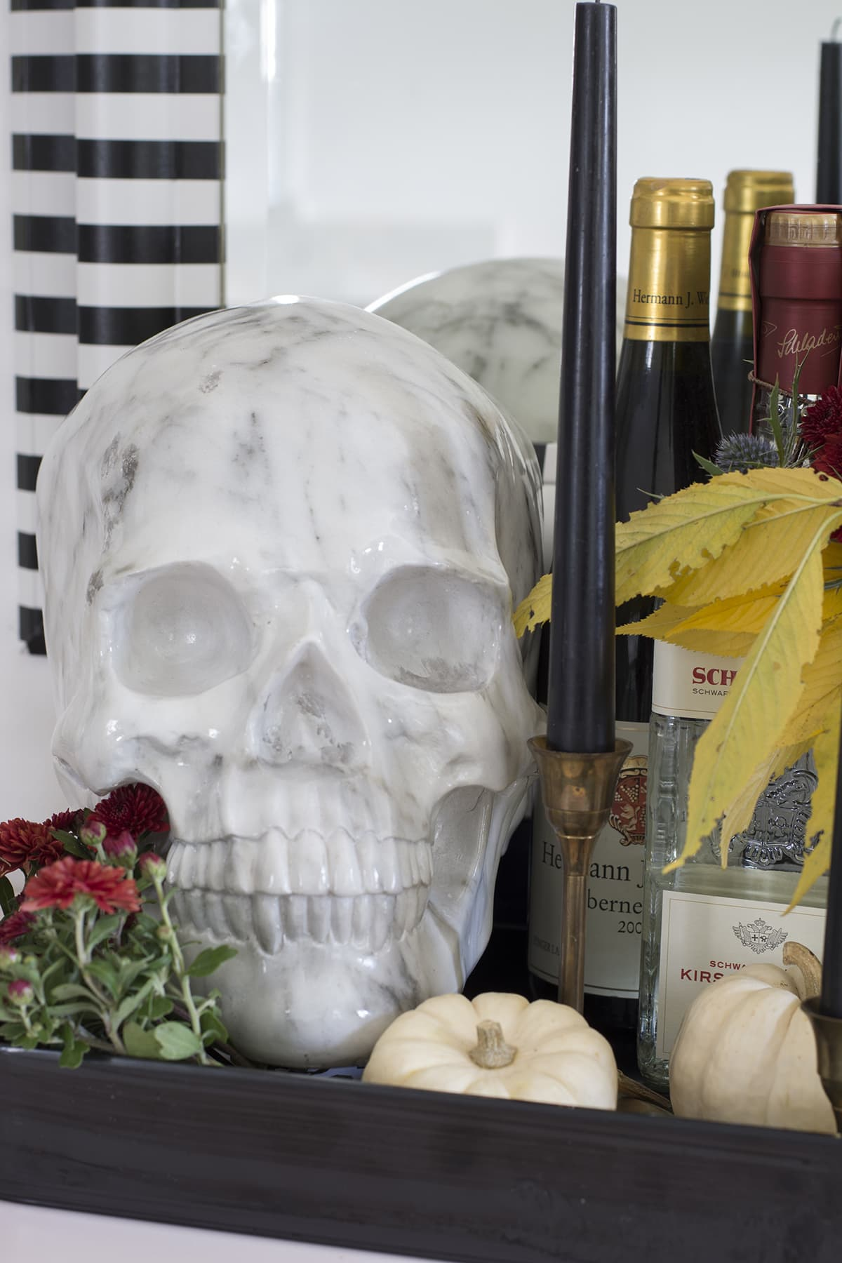 small Halloween bar on buffet