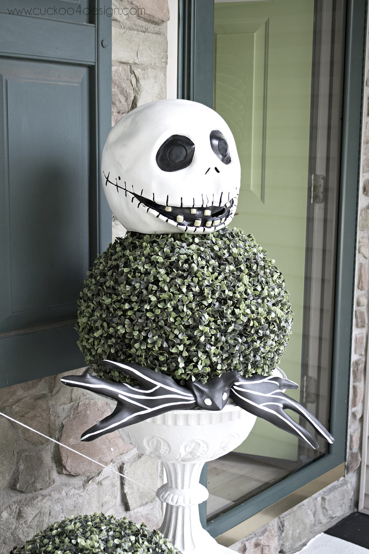 Jack Skellington Topiary from costume mask