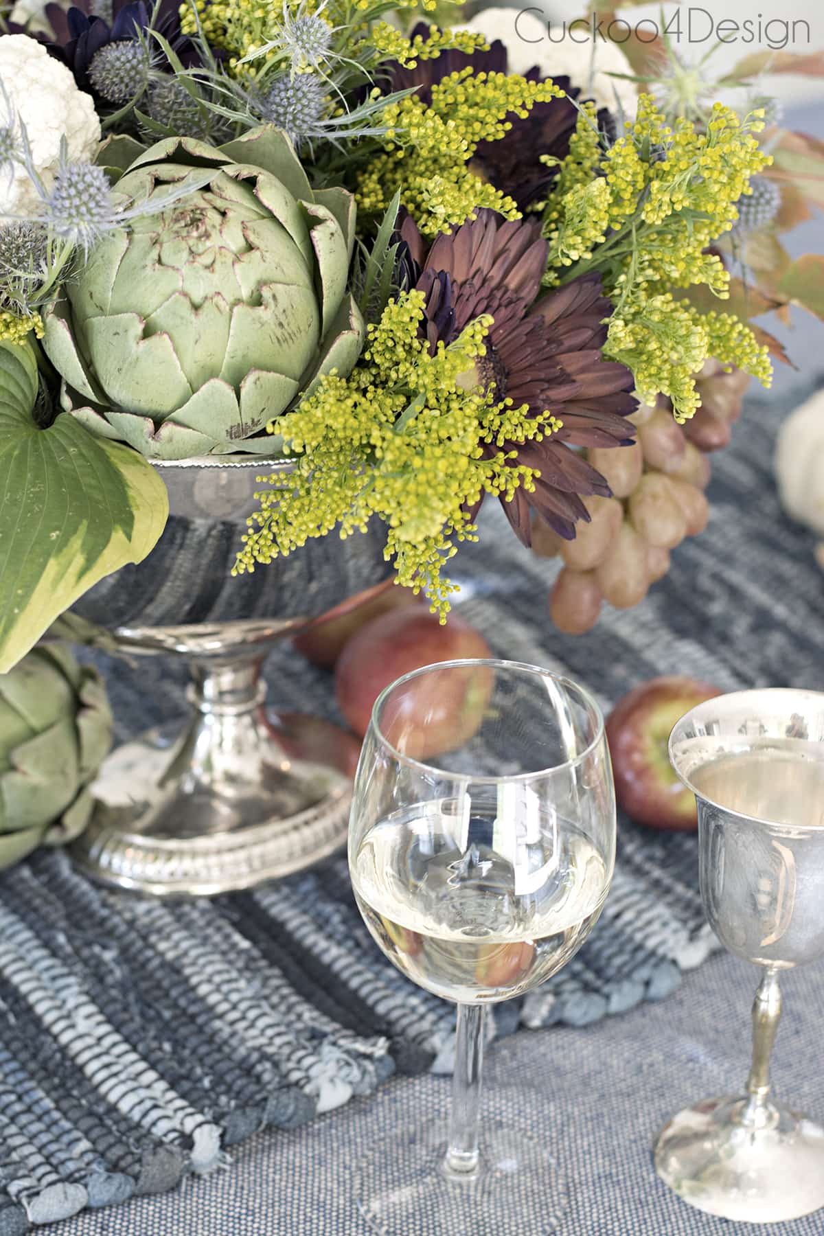Blue Jeans Fall or Thanksgiving Tablescape