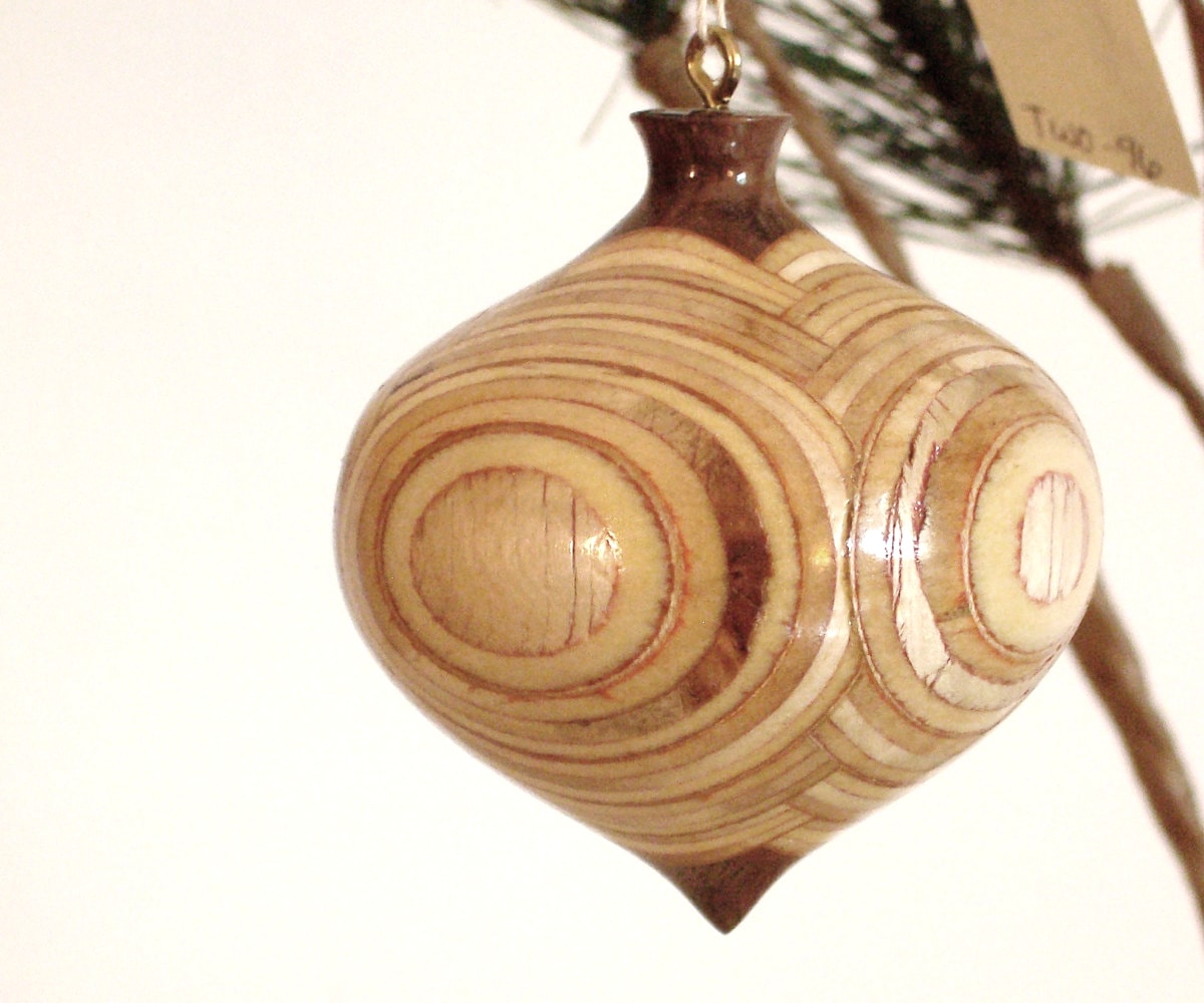 beautiful turned wood ornaments