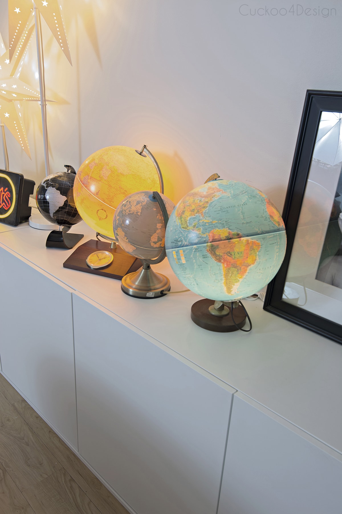 family room globe collection