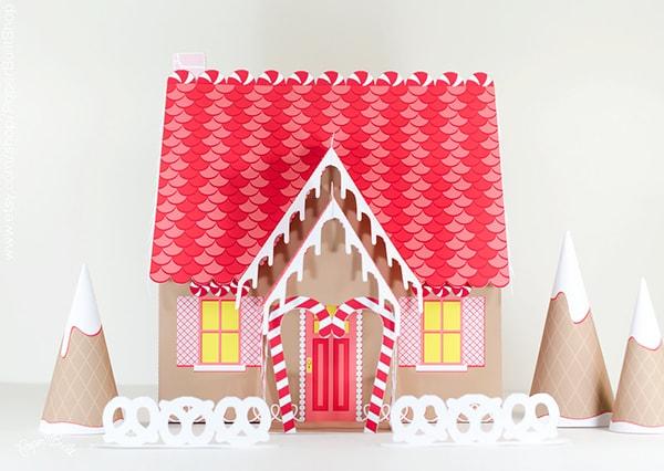 paper ginger bread house kit