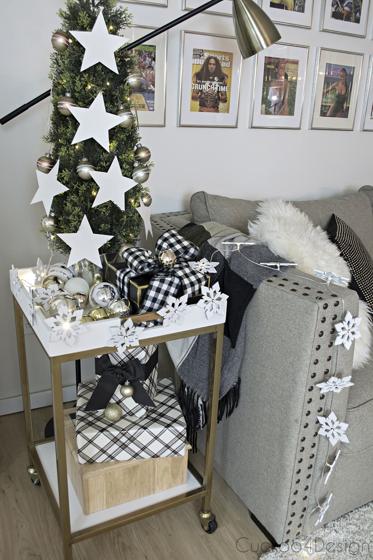 Home Decorators Collection® holiday homes blog hop - mancave/basement family room