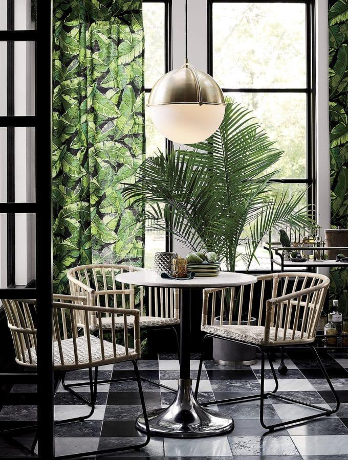 Palm leaf curtains